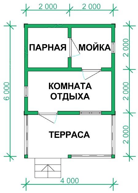 Как построить баню из бруса 3 6